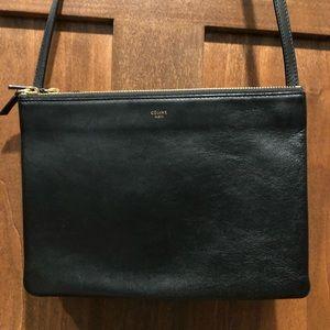 Celine Trio Bag Large in Black